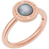 Damen Michael Kors Rose vergoldet Größe L.5 Logo Ring