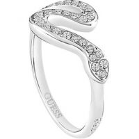 Femmes Guess PVD Argent Plated Taille N Bague