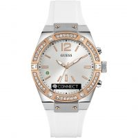 Unisex Guess CONNECT Bluetooth Weiß & Rose Gold 41mm Smartwatch Uhr