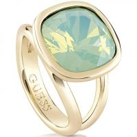 Femmes Guess PVD Or plaqué CRYSTAL SHADES RING SIZE N